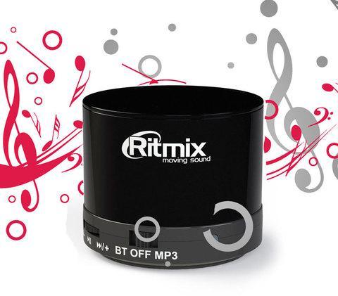 Колонка портативная компактная RITMIX SP-130B с функцией FM Radio