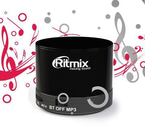 Колонка портативная компактная RITMIX SP-130B с функцией FM Radio, фото 2