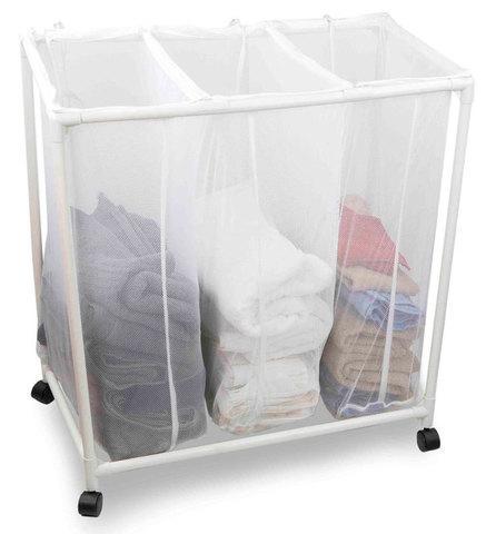 Корзина для белья на колесиках Laundry Sorter Triple