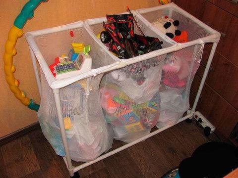 Корзина для белья на колесиках Laundry Sorter Triple, фото 2