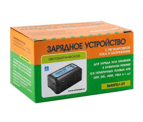Зарядное устройство автоматическое для гелевых АКБ ВЫМПЕЛ-09