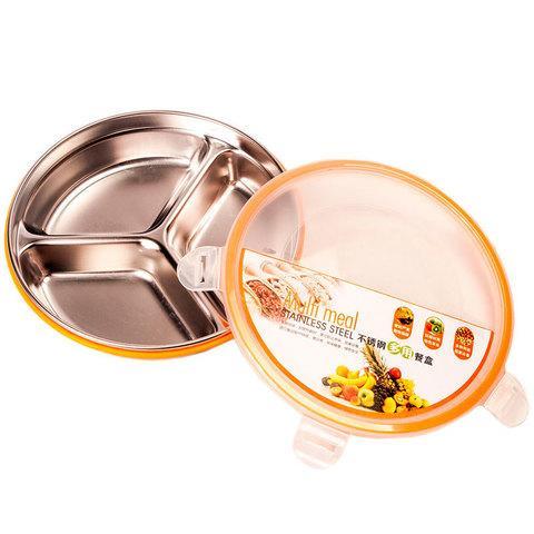 Контейнер пищевой на 3 секции STAINLESS STEEL Multi meal