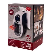 Обогреватель портативный с LED-дисплеем и таймером PLUGGABLE Mini Heater Fan [500 Вт], фото 3