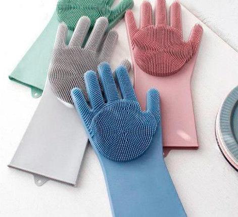 Перчатки-щетки многоцелевые силиконовые KIPA, фото 2