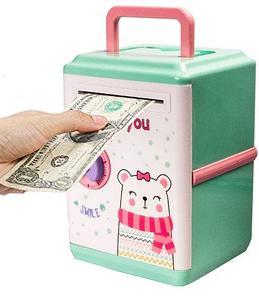Копилка детская с купюроприемником и шифровым замком MONEY SAFE
