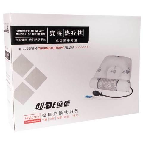 Подушка надувная терапевтическая с массажным валиком и подогревом OUDE
