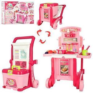 Игровой набор с чемоданом-тележкой «Детская кухня» Kitchen Little Chef NO.008-927