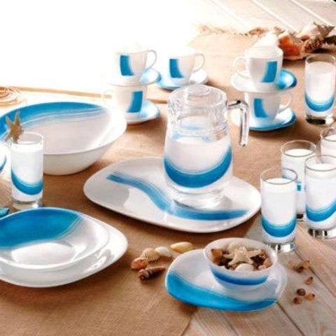 Столовый сервиз Luminarc Blue Wave (46 предметов)