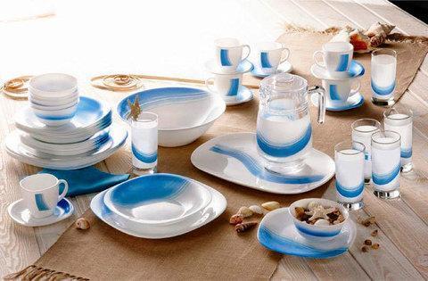 Столовый сервиз Luminarc Blue Wave (46 предметов), фото 2