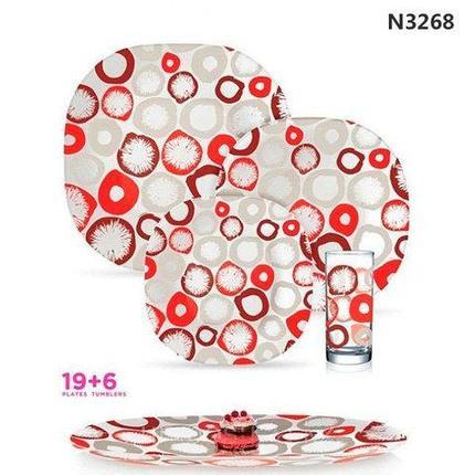 Столовый сервиз Luminarc Leliane Red (25 (19+6) предметов), фото 2