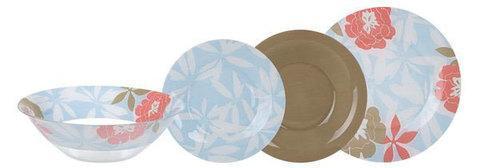 Столовый сервиз Luminarc Peony Floral Blue (46 предметов), фото 2