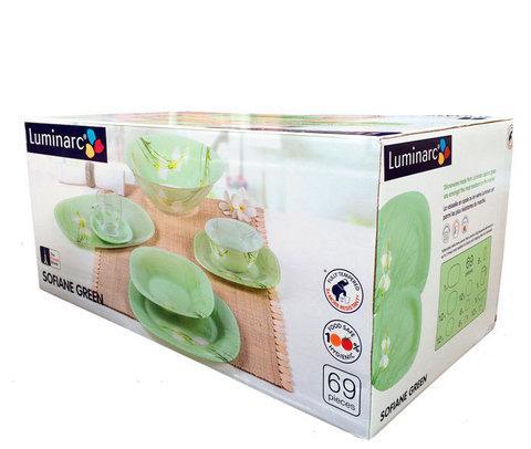 Столовый сервиз Luminarc Sofiane Green на 12 персон [69 предметов]