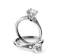 Золотое кольцо в Винтажном стиле c центральным бриллиантом от 0,45Ct, фото 1