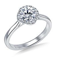 Золотое кольцо c центральным бриллиантом от 0,60Ct, фото 1
