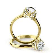 Золотое кольцо c центральным бриллиантом от 0,30Ct, фото 1