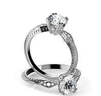 Эксклюзив - золотое кольцо c центральным бриллиантом от 0,95Ct, фото 1