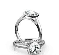 Золотое кольцо c центральным бриллиантом от 0,70Ct , фото 1