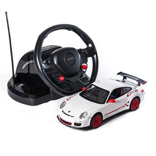 Радиоуправляемая модель автомобиль Rastar Porsche GT3, 1:14, Управление: Руль, Материал: Пластик, Цвет: Белый,