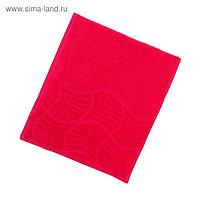 Полотенце махровое «Волна», размер 30х70 см, цвет малина, 300 г/м²