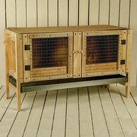 Брудер для цыплят, 100 x 40 x 45 см, с поддоном, с патроном под лампу, деревянный