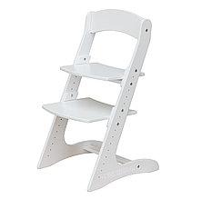 Детский растущий (регулируемый) стул. Ортопедический стул. (Белый)