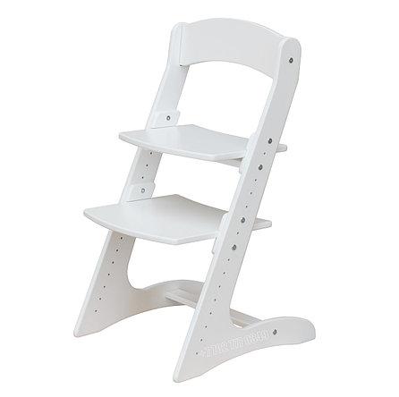 Детский растущий (регулируемый) стул. Ортопедический стул. (Белый), фото 2