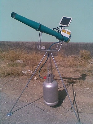 Электронный отпугиватель птиц (Громпушка) Е3 на солнечной батарее