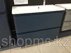 Мебель AQUARODOS Акцент 100 (синий мат) напольный- шкаф по ум. для ванной комнаты в к-т с умыва ***