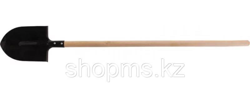 Лопата  с березовым черенком штыковая