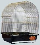 Клетка для мелких и средних птиц, модель 400 Gold, 35х28х46 см, золотая