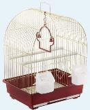 Клетка для мелких и средних птиц, модель А400, 35х28х46 см, крашенная