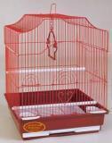 Клетка для мелких и средних птиц, модель 412 Gold, 34,5*28*43 см, золото