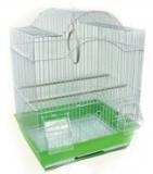Клетка для мелких и средних птиц, модель А413, 34,5*28*46 см, крашенная