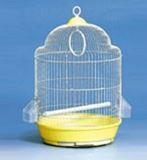Клетка для мелких и средних птиц, модель А328 Gold, d33,5*54 cm, золотая, фото 1