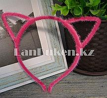 Ободок для тематических праздников кошачьи ушки (розовый)