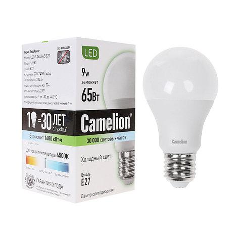 Лампа светодиодная Camelion А60/4500К/E27/9Вт, Холодный, фото 2