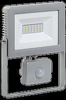 Прожектор СДО 07-30Д светодиодный серый с ДД IP44 IEK