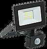 Прожектор СДО 06-30Д светодиодный черный с ДД IP54 6500K IEK