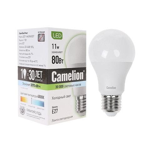 Лампа светодиодная Camelion А60/4500К/E27/11Вт, Холодный, фото 2