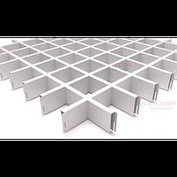 Грильято потолок 75x75 (Белый) Сталь