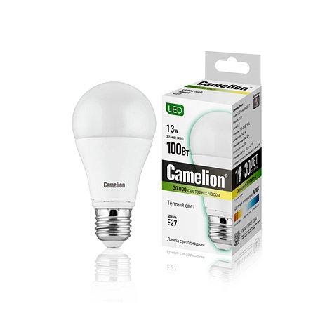 Лампа светодиодная Camelion А60/3000К/E27/13Вт, Тёплый, фото 2