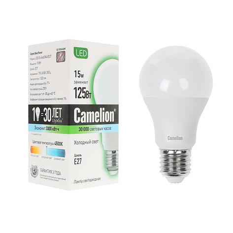Лампа светодиодная Camelion А60/4500К/E27/15Вт, Холодный, фото 2