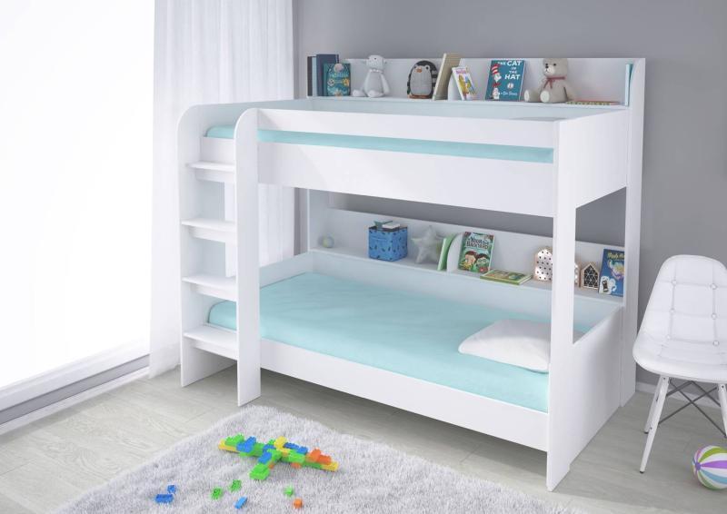 Кровать двух ярусная Polini Simple 5000 с полками Белый