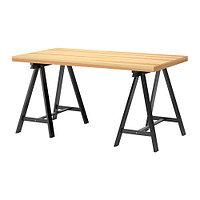 Стол  ТОРНЛИДЕН / ОДВАЛЬД  сосна, черный ИКЕА, IKEA, фото 1