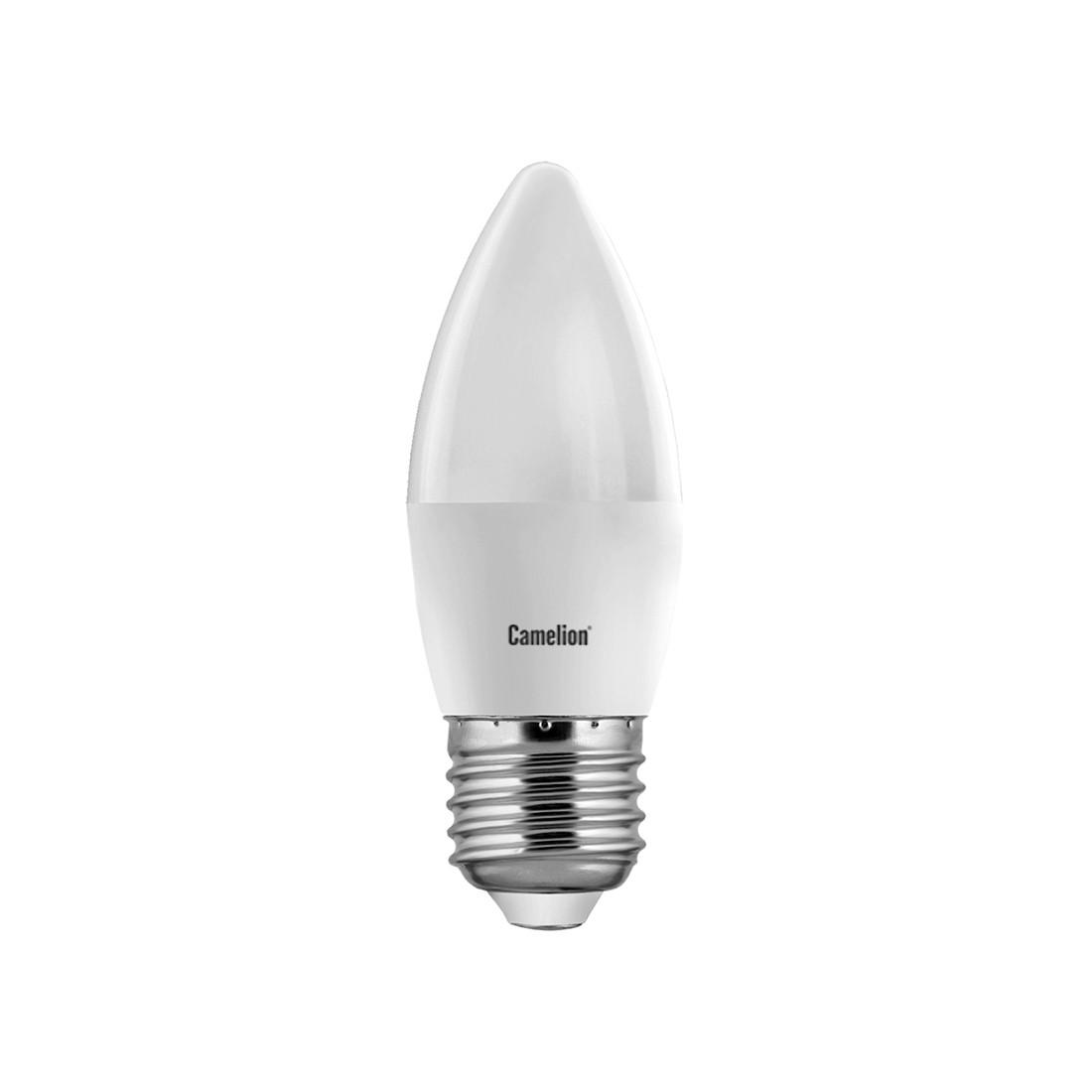 Лампа светодиодная Camelion C35/4500К/E27/7Вт, Холодный