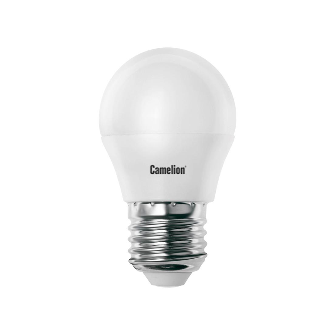 Лампа светодиодная Camelion G45/4500К/E27/7Вт, Холодный