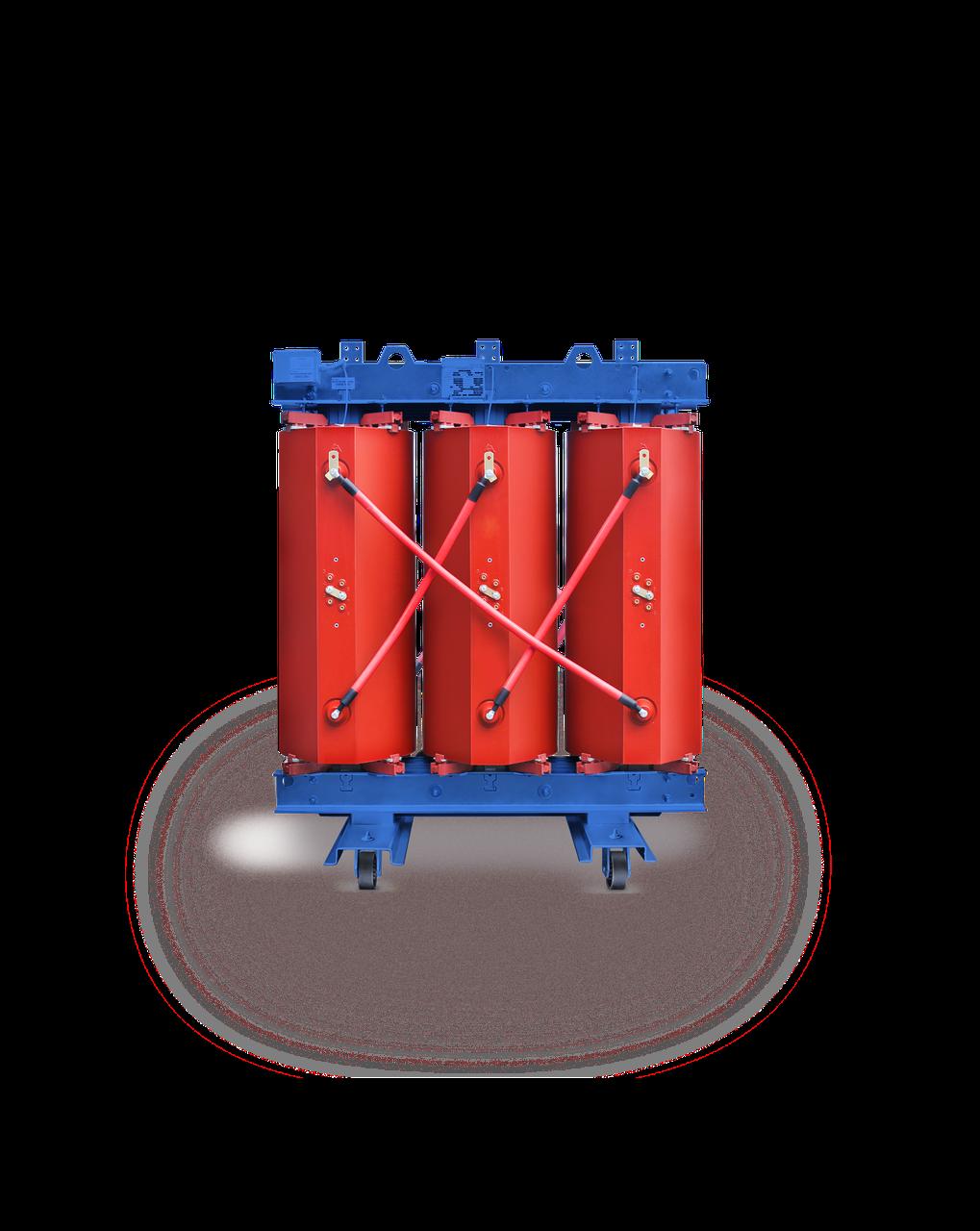 Трансформатор сухой с изоляцией из литой смолы типа TPZ, IP00, 1000кВА, 6/10/0,4