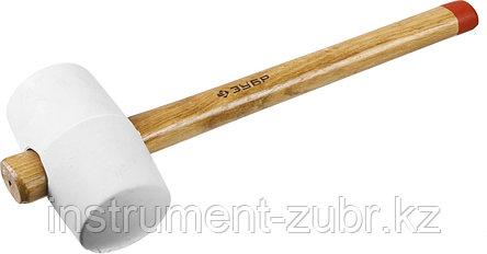 """Киянка ЗУБР """"МАСТЕР"""" резиновая белая, с деревянной рукояткой, 0,68кг, фото 2"""