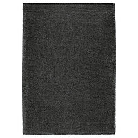 Ковер длинный ворс ОДУМ 170х240 темно-серый ИКЕА, IKEA, фото 1