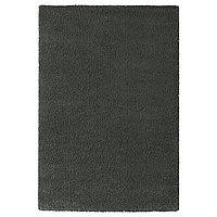 Ковер длинный ворс ОДУМ 133х195 темно-серый ИКЕА, IKEA  , фото 1